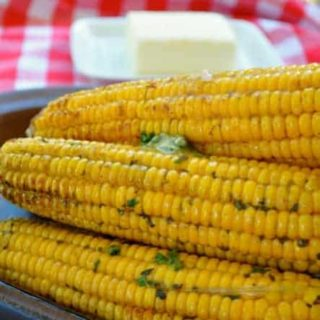 Grilled Corn: Two Ways. Cilantro-Lime Butter and Chili-Lime Butter |www.flavourandsavour.com