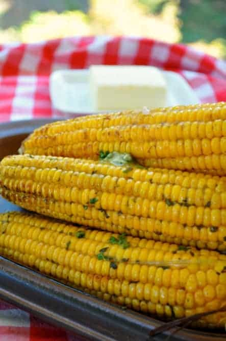 Grilled Corn: Two Ways Cilantro Lime Butter and Chili-Lime Butter