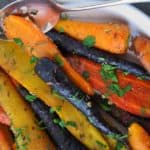 Roasted Carrots with Honey-Mustard Glaze |www.flavourandsavour.com