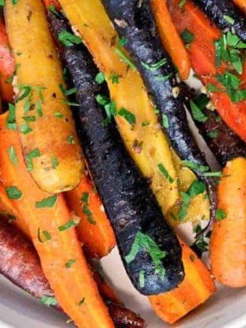 Roasted Carrots with Honey-Mustard Glaze