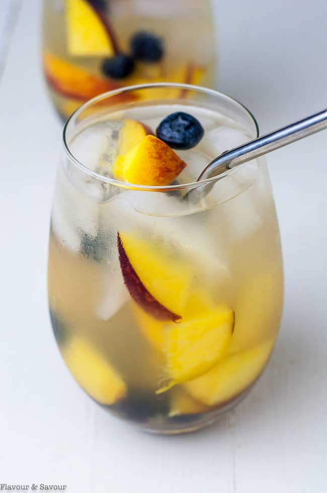 Close up view of Peach Sangria