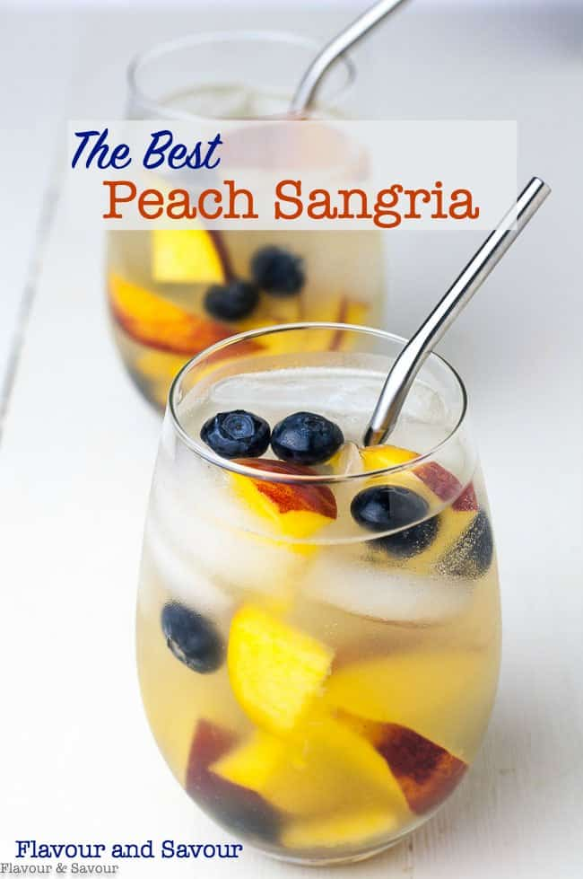 The Best Peach Sangria title