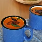 Tomato Soup with Basil 'n Bacon |www.flavourandsavour.com #creamy #tomato #bacon #basil