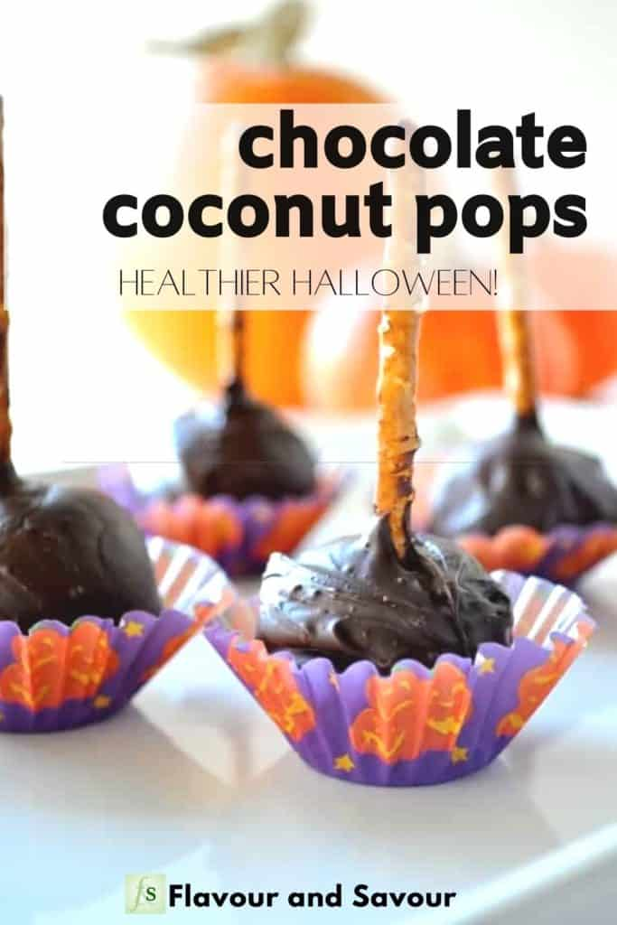 Image and Text overlay for Chocolate Coconut Pops