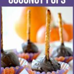 PInterest pin for Chocolate Coconut pops