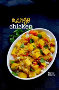 Mango Chicken with Thai Coconut Rice |www.flavourandsavour.com #mango #chicken #thai