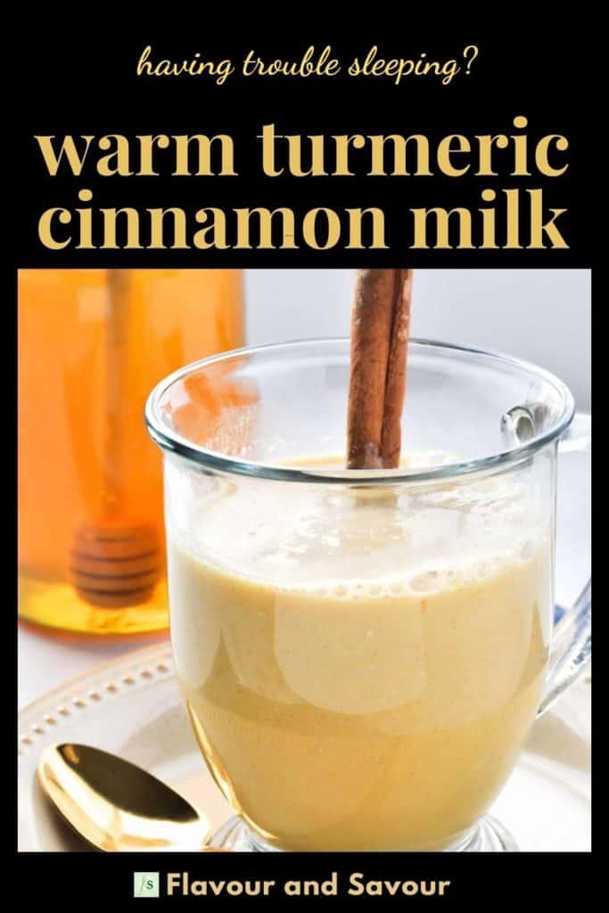 Image and text Warm Turmeric Cinnamon Milk