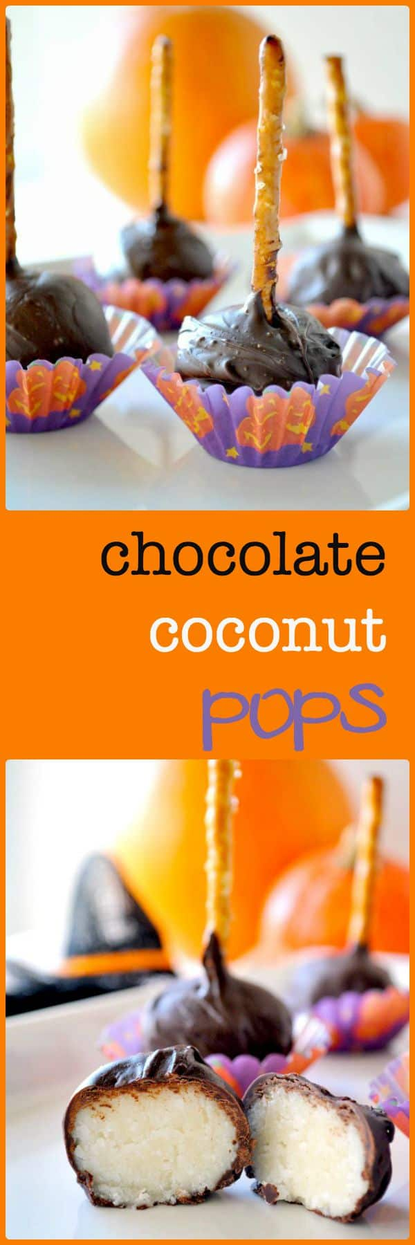 Chocolate Coconut Pops pin width=
