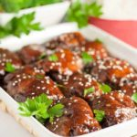 Slow Cooker Sticky Chicken. Made with soy sauce or coconut aminos, Sriracha, balsamic vinegar, honey, garlic, ginger and onion. It's the easiest meal you'll make all week. |www.flavourandsavour.com