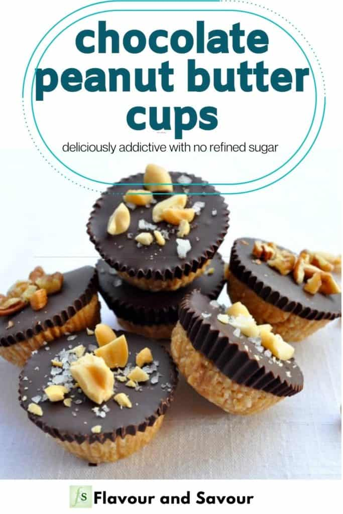 Image with text overlay for Chocolate Peanut Butter Cups