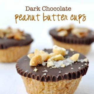 Dark Chocolate Salted Peanut Butter Cups |www.flavourandsavour.com A healthier indulgence, ready in 20 minutes and gluten-free too.
