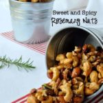 Sweet and Spicy Rosemary Nuts |www.flavourandsavour.com #holidaybaking