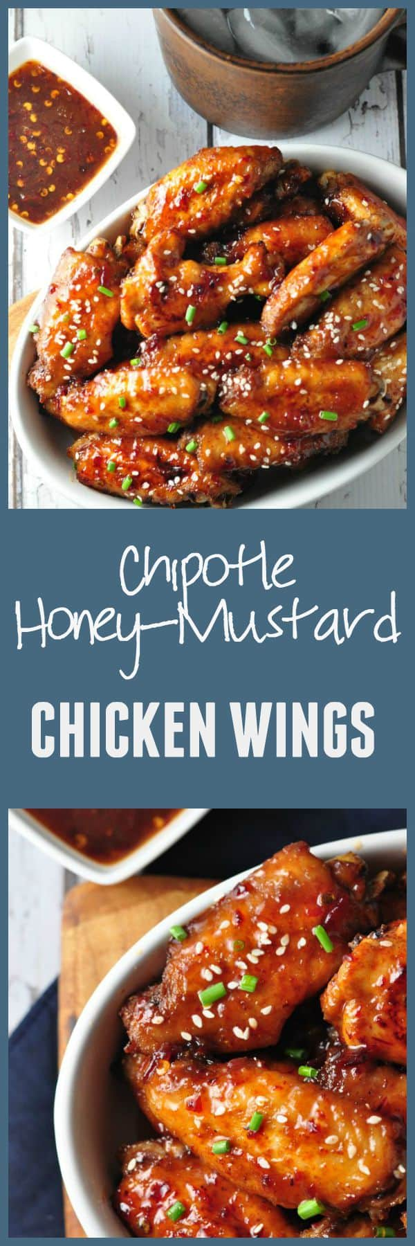 Chipotle Honey Mustard Glazed Chicken Wings from Flavour and Savour. Sweet, spicy and smoky, these Chipotle Honey-Mustard Glazed Chicken Wings are always popular and they disappear quickly!#chipotle #wings #honey_mustard