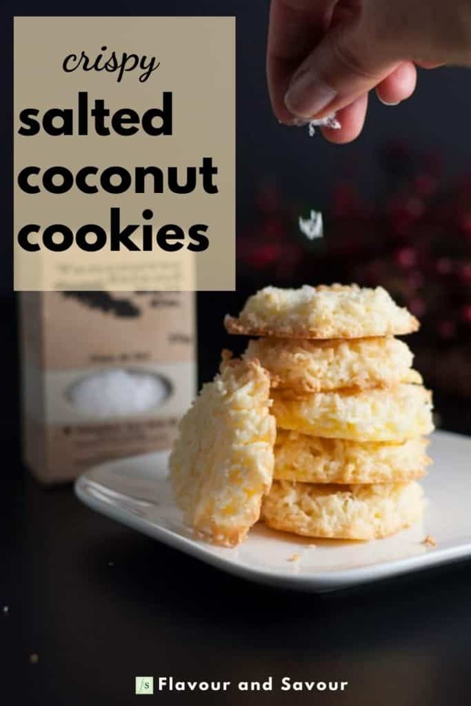 Image and text for Crispy Salted Coconut Cookies