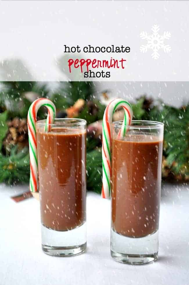 Hot Chocolate Peppermint Shots with Raw Cacao. Made with raw cacao powder, honey, almond milk and peppermint schnapps! |www.flavourandsavour.com