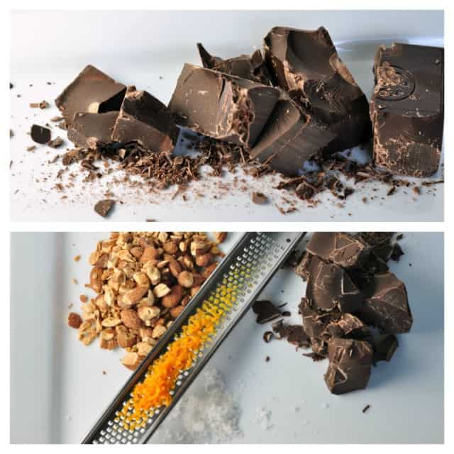 Dark Salted Chocolate-Orange Almond Bark collage