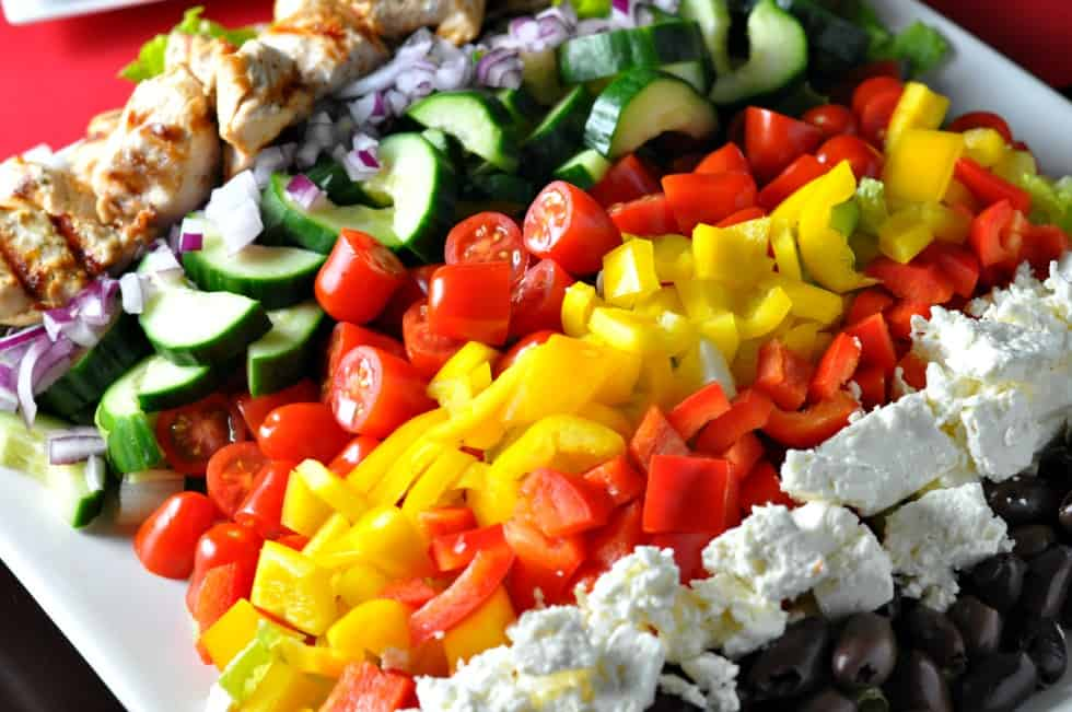 Greek Cobb Salad--Family Style.