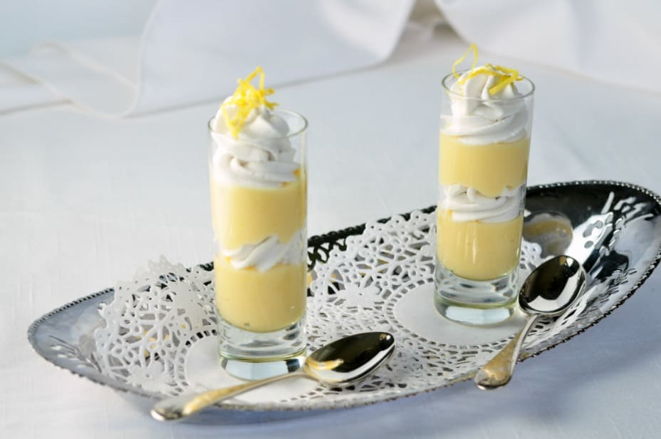 Meyer Lemon Mini Parfait. A cute little shot glass dessert made by layering lemon curd and whipped coconut milk. It's paleo, too.