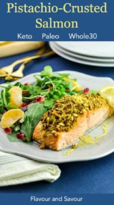 Pinterest pin 2 for Pistachio Crusted Salmon