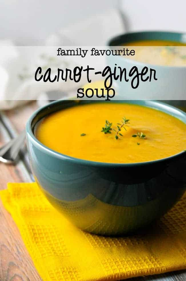 """Our Family's Favourite carrot-ginger soup. First spoonful is always followed by """"Mmmmm."""" 