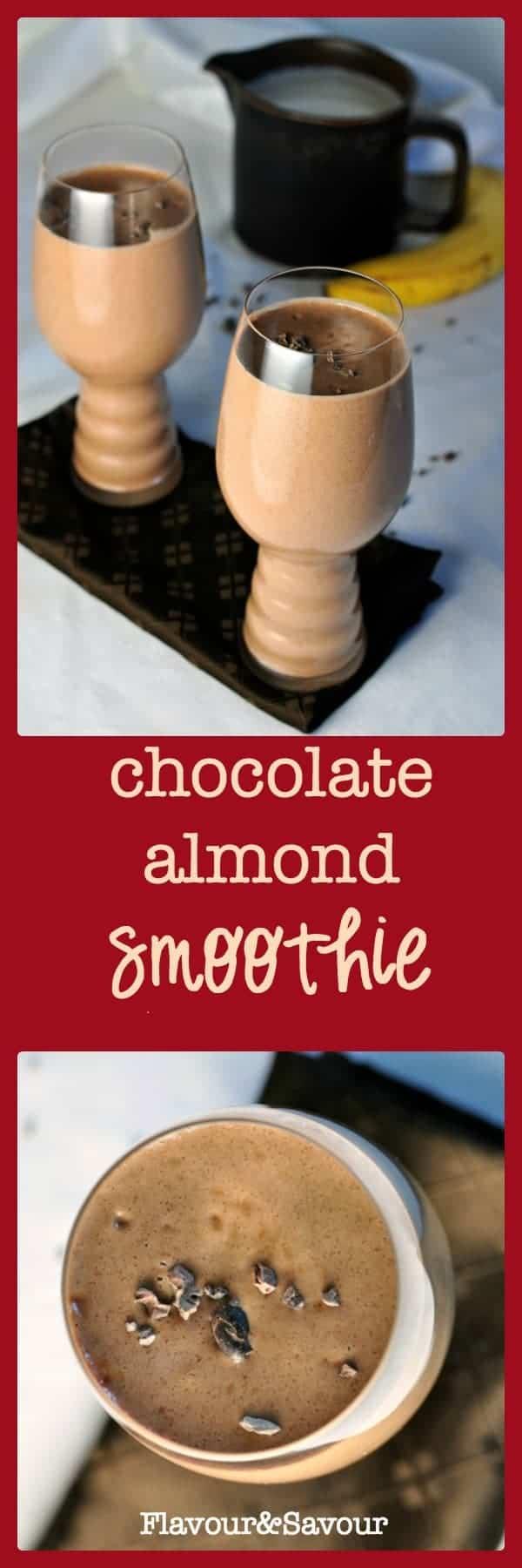 Paleo Chocolate Almond Smoothie dairy-free deliciousness paleo|www.flavourandsavour.com