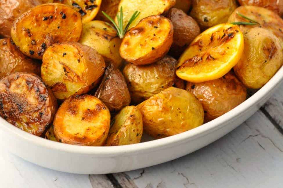 Close up view of Oven Roasted Potatoes