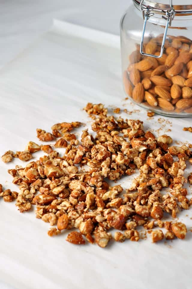 Toasted almonds for Caramel Almond Crunch Ice Cream