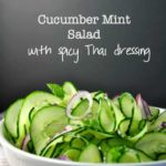 Cucumber Mint Salad with Red Onion and Thai Dressing |www.flavourandsavour.com
