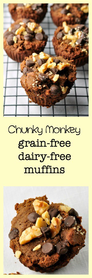 Chunky Monkey Muffins--adapted from Real Life Paleo. Grain-free, dairy-free deliciousness