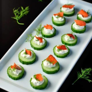 Smoked Salmon Cucumber Appies |www.flavourandsavour.com Easiest appetizer ever.