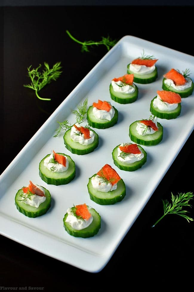 Smoked Salmon Cucumber Appy