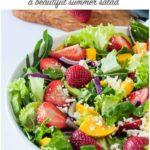 Strawberry Mango Arugula Salad pin