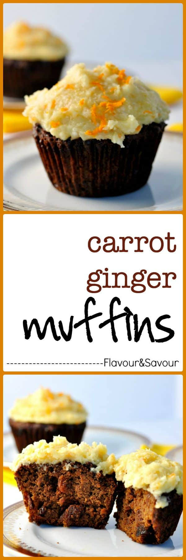 Gluten-free, dairy-free, refined-sugar free Carrot-Ginger Muffins. Paleo. These rise beautifully and are tender, sweet, and moist.
