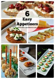 6 Easy Appetizers to make for your next party.  www.flavourandsavour.com