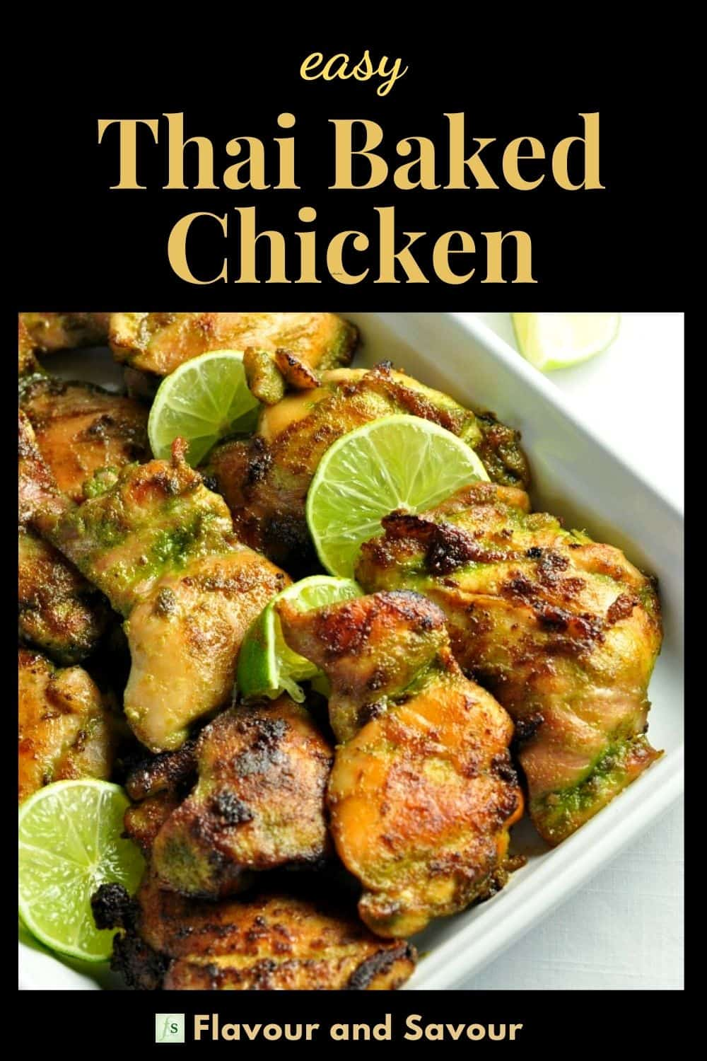 Text with Image for Easy Thai Baked Chicken