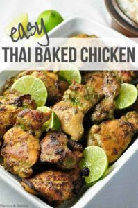 Easy Thai Baked Chicken recipe title