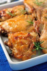 Maple Garlic Glazed Chicken.