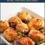 Pinterest Pin for Maple Garlic Glazed Chicken