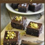 pin for Paleo Brownies with chocolate ganache