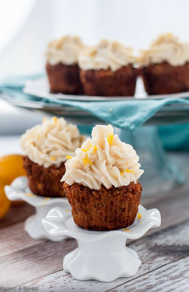 Diet Carrot Cake Cupcakes