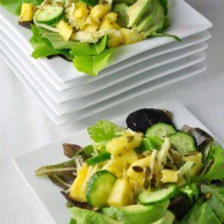 Pineapple Jicama Salad. Sweet pineapple, crisp and crunchy jicama combine to make this Southwestern style salad a crowd-pleaser!  www.flavourandsavour.com