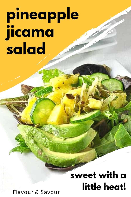 Pineapple Jicama Salad with text overlay
