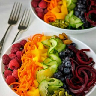Rainbow Detox Salad. This Rainbow Detox Salad will help to cleanse your body, eliminate toxins and brighten your skin. Full of fresh fruits and vegetables and drizzled with a creamy dairy-free avocado dressing,.