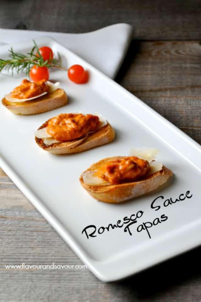 Mediterranean Romesco Sauce Tapas. Amazing flavours!  www.flavourandsavour.com