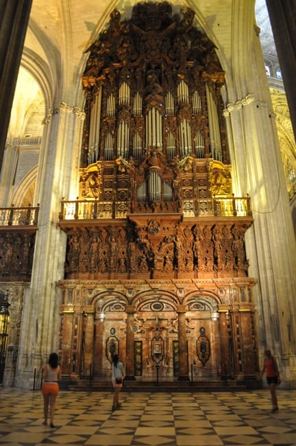 Cathedral organ in Seville Spain