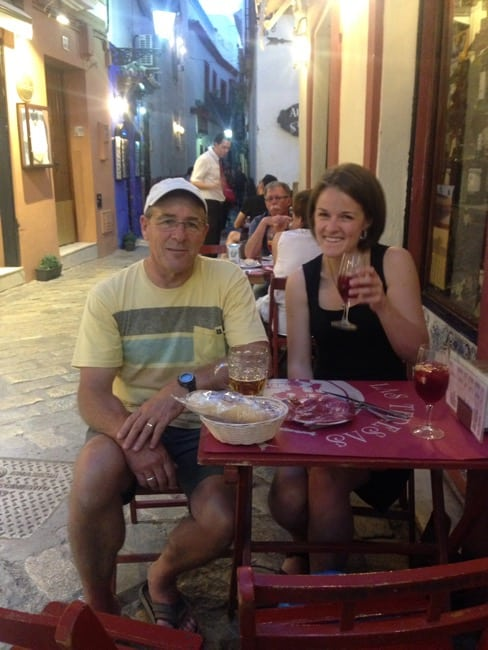 Sipping Sangria and eating tapas in Seville Spain