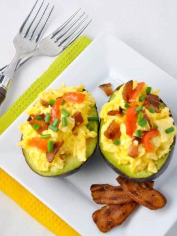 Avocado Bacon and Eggs.