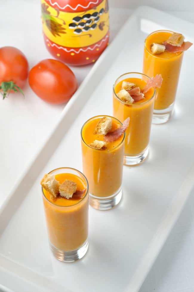 Salmorejo--Chilled Tomato Soup. It's a cousin to Gazpacho, but even better! |www.flavourandsavour.com