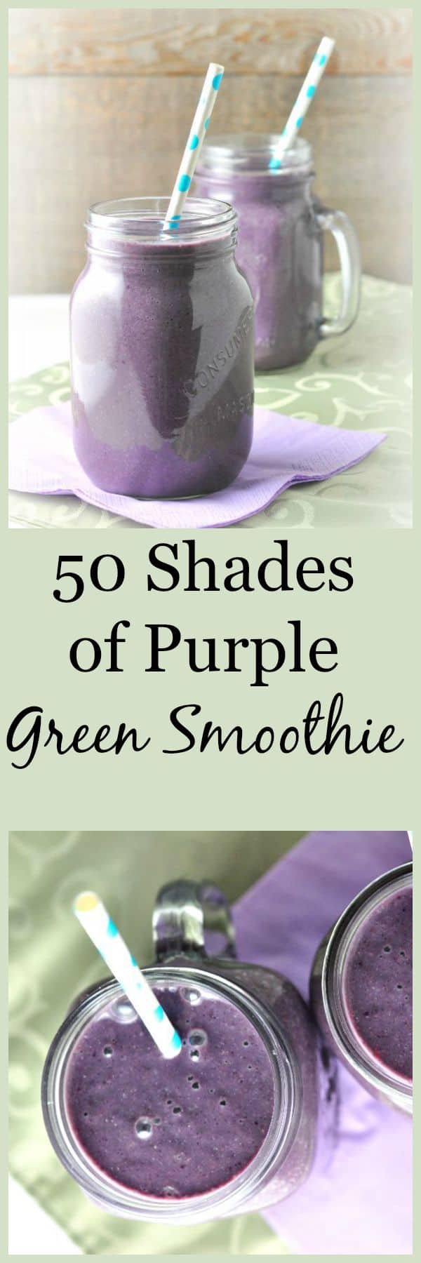 50 Shades of Purple green smoothie. You won't believe it's a green smoothie! |from Flavour and Savour