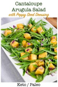 Pin for Cantaloupe Arugula Salad